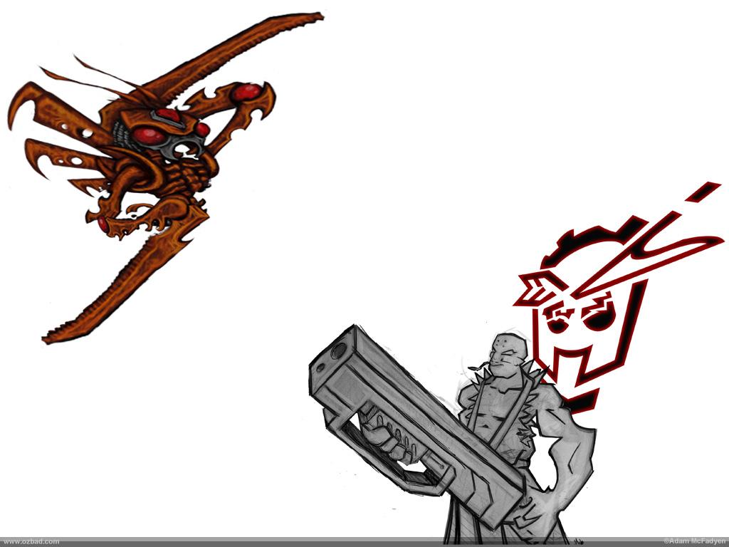 Exterminator BioMec Sketch