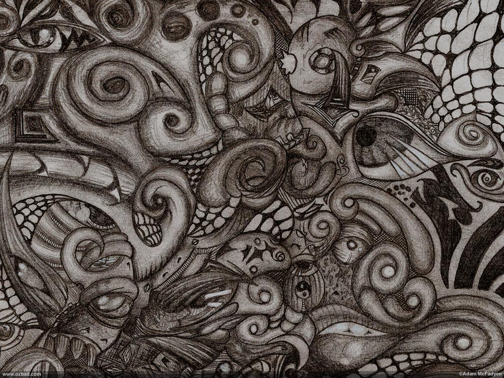 EyeSpyder Psychedelic Graphite Sketch