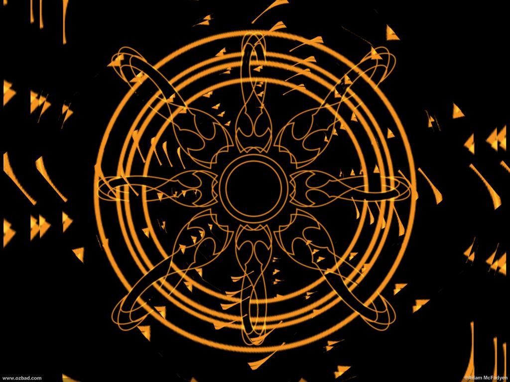 Sun-Spot Dark Radial Digital Art