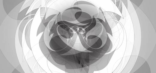Orbital-Flow Soft Radial Black and White Art