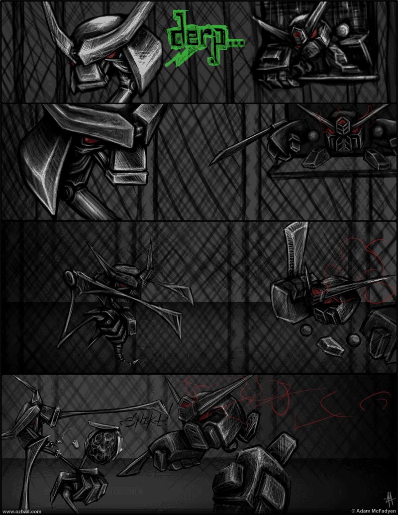 Samurai Robots Comic
