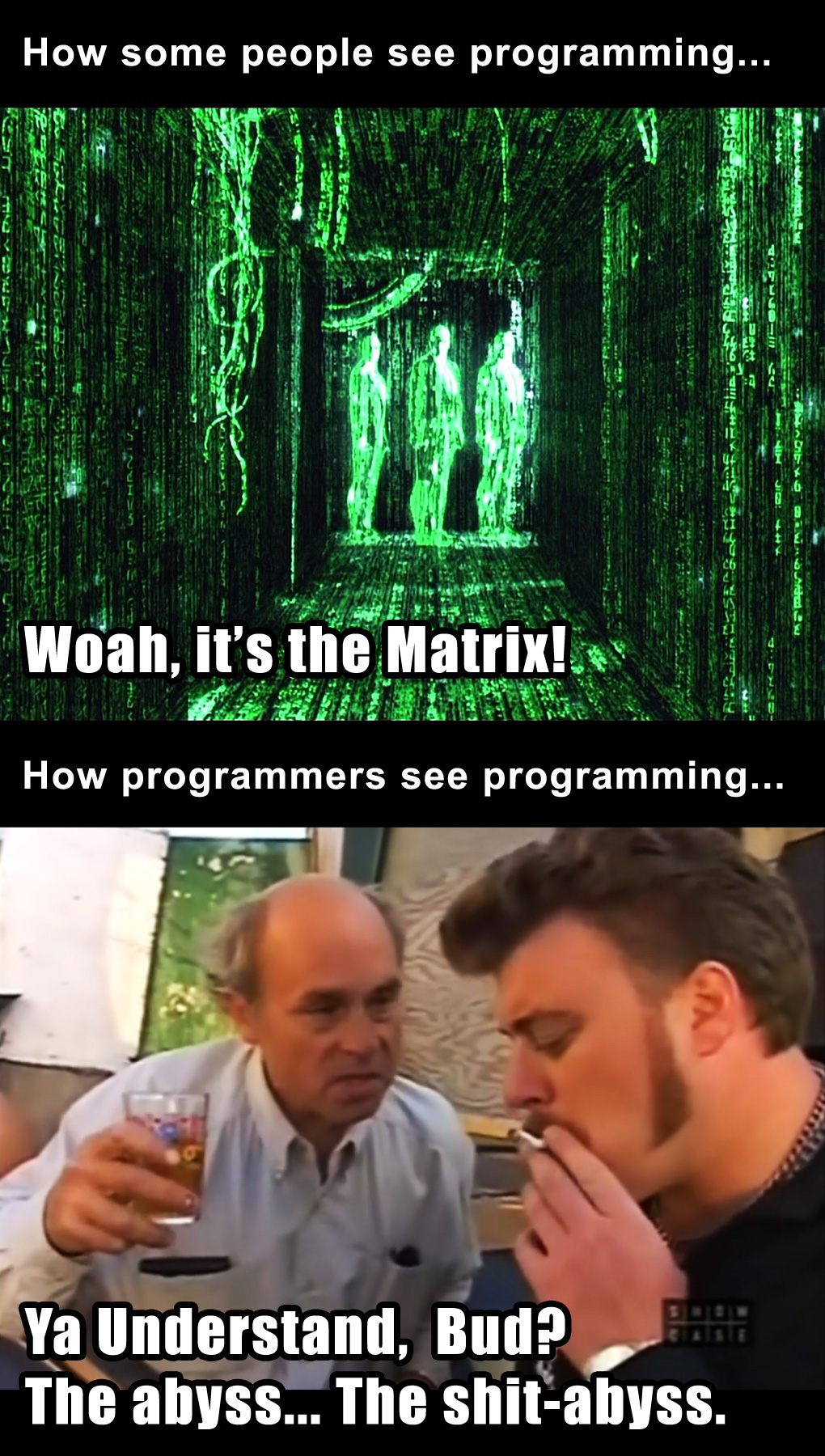 how_people_see_programming_matrix_lahey_shit_abyss_trailerpark_boys