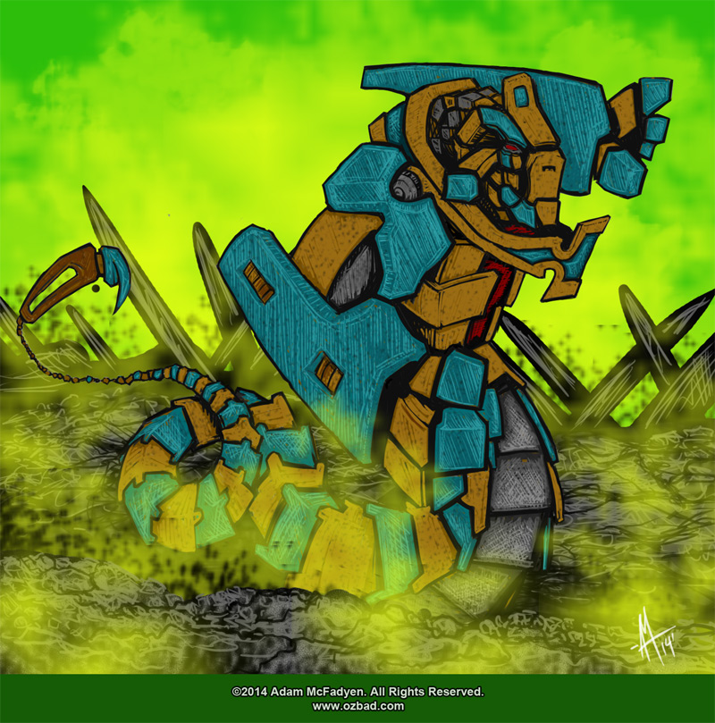 Robot Snake Golem