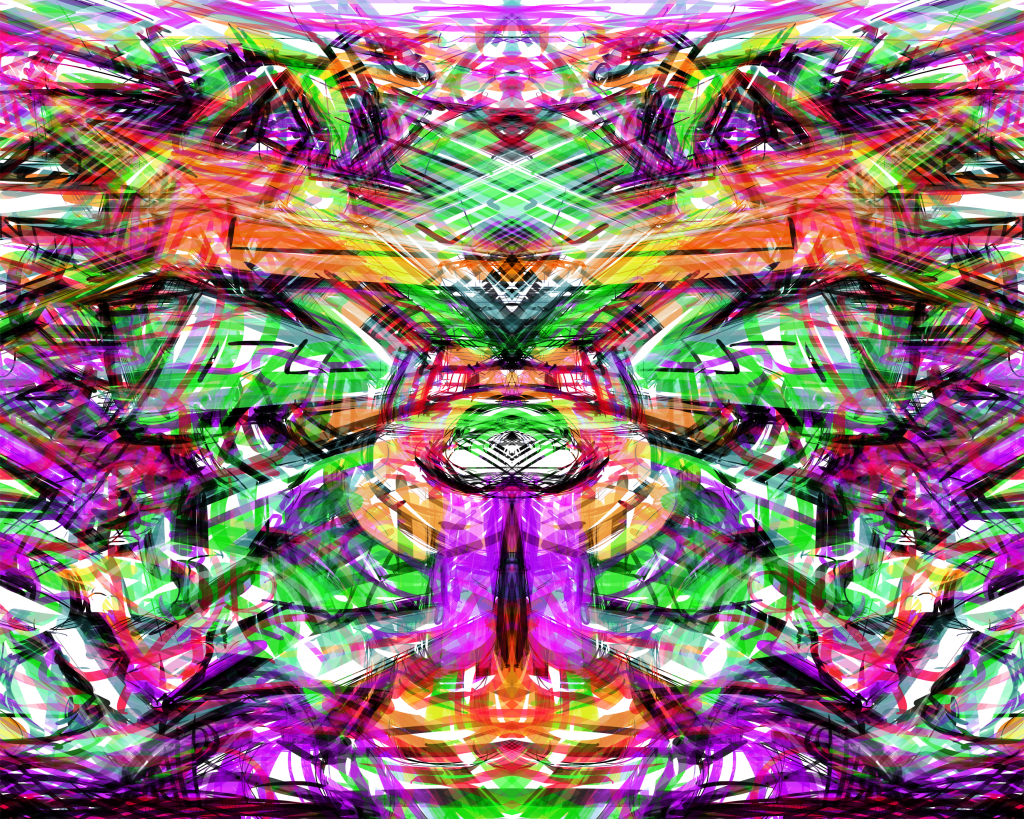 Neon Tribal Graffiti Abstract ArtWork Light