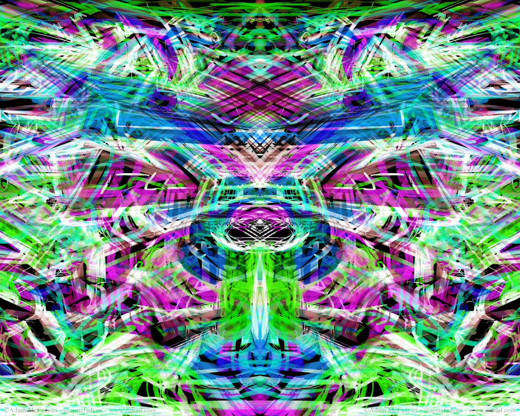 Neon Tribal Graffiti Abstract ArtWork Dark
