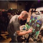 Adam McFadyen Painting Final Round at Art Battle #327 in Victoria BC