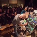 Adam McFadyen Painting in Final Round at Art Battle #327, Victoria BC