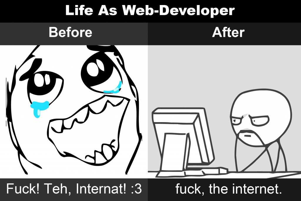 Life As Web-Developer Before / After Rage Comic